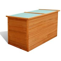 Garden Storage Box 126x72x72 cm Wood - Brown - Vidaxl