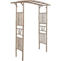 Rose Arch Bamboo 145x40x187 cm - Brown - Vidaxl