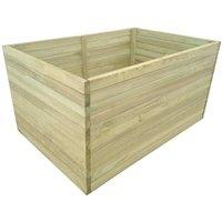 Garden Planter Impregnated Pinewood 100x100x77 cm - Brown -