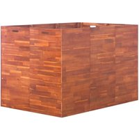 Garden Raised Bed Acacia Wood 150x100x100 cm - Brown - Vidaxl
