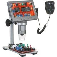 4.5-inch LCD Digital Microscope Magnifier with Remote Control 1200X Magnification Portable Microscope Video Camera Microscope for Circuit Board
