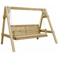 Garden Swing Bench Impregnated Pinewood 205x150x157 cm - VIDAXL