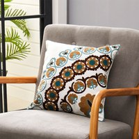 Cotton Linen Plant Flower Pattern Decorative Throw Pillow Case Cushion Cover 45cm