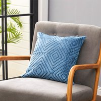 Modern Geometric Pattern Decorative Throw Pillow Case Cushion Cover 45cm,Blue