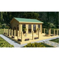 Abingdon - 4.5m x 3.5m Log Cabin (2075) - Double Glazing (34mm Wall Thickness)