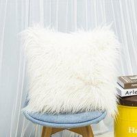 45x45CM Cushion Case Faux Fur Fluffy Plush Sofa Bed Throw Pillow Cover - LIVINGANDHOME