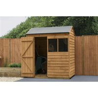 Worcester Overlap(f) - 4ft x 6ft Reverse Apex Overlap Dip Treated Shed (1.3m x 1.8m) - Modular - CORE