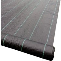 4m x 100m 100gsm Horticultural Ground Cover Weed Control Fabric - Yuzet