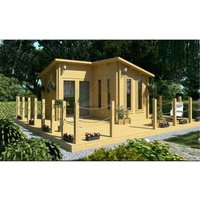 Abingdon - 4m x 4m (13 x 13) Log Cabin (2054) - Double Glazing (34mm Wall Thickness)