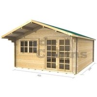 4m x 5m Log Cabin (2061) - Double Glazing (34mm Wall Thickness)
