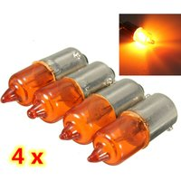 4Pcs 12V 23W BA9S Base Mini Turn Signal Light Bulb Halogen Lamp Amber Motorcycle Velo