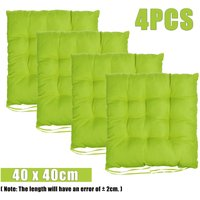 4PCS 40x40cm Soft Square Chair Cushion Pads Square Indoor Outdoor Green