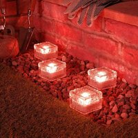 Perle Raregb - 4pcs Ice Brick Light, IP68 Waterproof Ice Rock, LED Night Light, Built-in Solar Buried Crystal Landscape Light, Used for Decorating