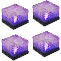 4pcs IP65 waterproof glass brick LED decorative light