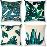 4pcs Set Cushion Cover Farm Plant Flower Pattern Velvet Pillow Case Sofa Home Living Room Bedroom Home Decoration, 45x45cm