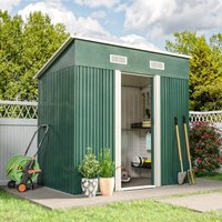 Livingandhome - 4ft x 6ft Metal Garden Shed Outdoor Tool shed - Green