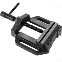 5 Drill Press Vice (125 mm Jaws, 100 mm Opening, 4.5 kg Cast Steel, Solid Construction) Vise - EBERTH