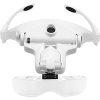 5 Lens 1.0X-3.5X Adjustable Bracket Headband Glasses Magnifier Loupe with 2 LED Lights and USB Charge Goggles