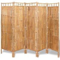 5-Panel Room Divider Bamboo 200x160 cm10160-Serial number