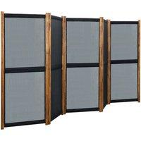 5-Panel Room Divider Black 350x170 cm25338-Serial number