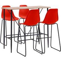 Zqyrlar - 5 Piece Bar Set Plastic Red - Red