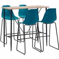 Zqyrlar - 5 Piece Bar Set Plastic Turqoise - Turquoise