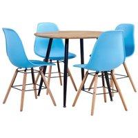 5 Piece Dining Set Plastic Blue19544-Serial number