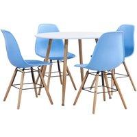 5 Piece Dining Set Plastic Blue19572-Serial number