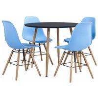 5 Piece Dining Set Plastic Blue19586-Serial number
