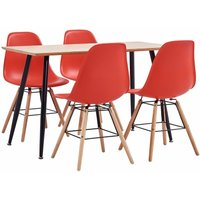 5 Piece Dining Set Plastic Red19379-Serial number