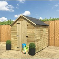 5 x 5 **Flash Reduction** Super Saver Windowless Pressure Treated Tongue And Groove Single Door Apex Shed (Low Eaves) - MARLBOROUGH INSTALLED (BS)