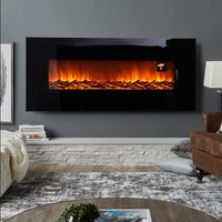 50 inch LCD Fireplace Electric Heater Remote Timer Adjustable Flame Effect Core
