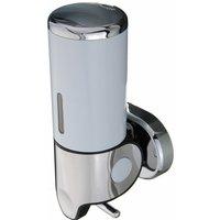 500ML Stainless Steel Manual Soap Dispenser Liquid Wall Kitchen Bathroom Sink White Mohoo