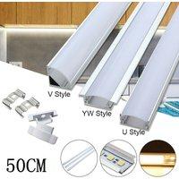 50CM Aluminum Channel Holder Milk Cover For LED Strip Light