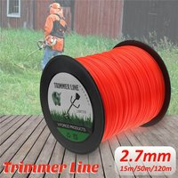 50M 120M 2.7mm Lawn Mower Lawn Rope Brush Cutter Cord Wire Roller Nylon Cutting Line (120m)