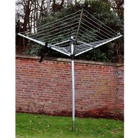50m Rotary air dryer with cover and ground spike washing line