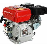 Eberth - 5,5 HP 4,1 kW motore a benzina (19mm Ø albero conico, protezione da carenza dolio, 1 cilindro, 163cc capacità cubica, 4 tempi, raffreddato