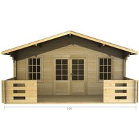 5m x 3m Log Cabin (2087) - Double Glazing (34mm Wall Thickness)