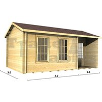 Abingdon - 5m x 3m Log Cabin (2090) - Double Glazing (44mm Wall Thickness)