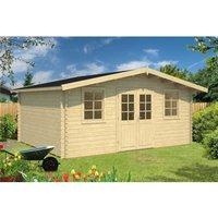 5m x 4m Budget Apex Log Cabin (204) - Single Glazing (28mm Wall Thickness)