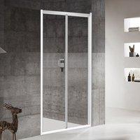 5mm Bifold Shower Door Enclosure Framed Glass Screen Cubicle Pivot Shower Door 900mm