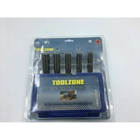 5Pc 3/8 DEEP Drive Extractor Remover Set Broken Damaged Nut Bolt Removal Tool