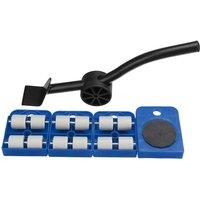 Insma - 5pcs Moves Furniture Tool Transport Shifter Moving Wheel Slider Remover Roller blue