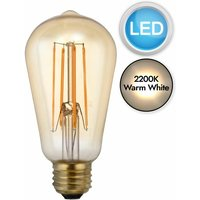 First Choice Lighting - E27 5W ST58 LED Bulb in Warm White