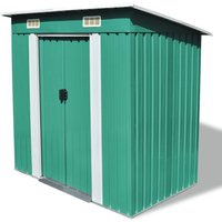 6 ft. W x 4 ft. D Apex Metal Shed by Green - Wfx Utility