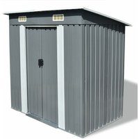 6 ft. W x 4 ft. D Pent Metal Shed by WFX Utility - Grey