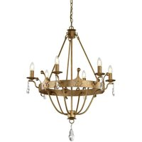 Elstead Windsor - 6 Light Chandelier Gold Finish, E14 - ELSTEAD LIGHTING