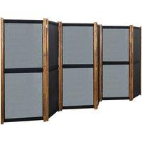 Betterlifegb - 6-Panel Room Divider Black 420x170 cm25339-Serial number