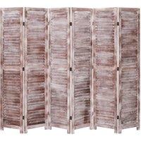 Betterlifegb - 6-Panel Room Divider Brown 210x165 cm Wood16408-Serial number