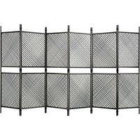 6-Panel Room Divider Poly Rattan Anthracite 360x200 cm33302-Serial number